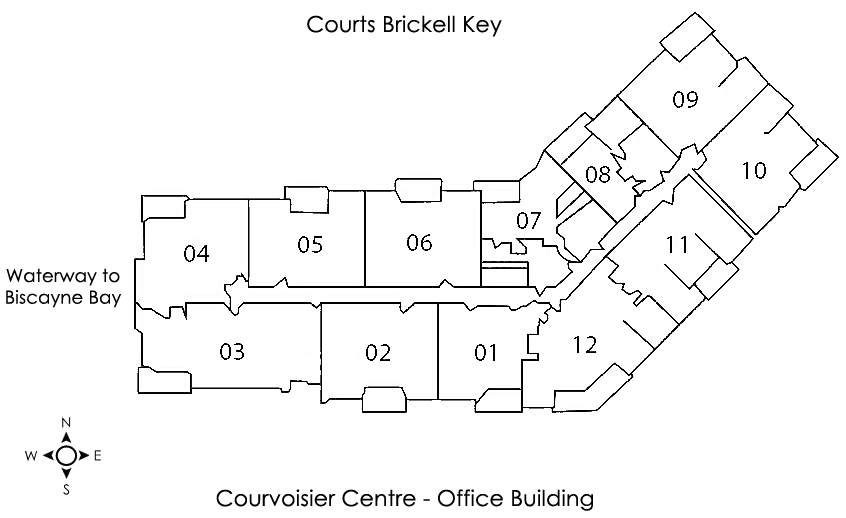 Courvoisier Courts Condo Brickell Key Floor Plans
