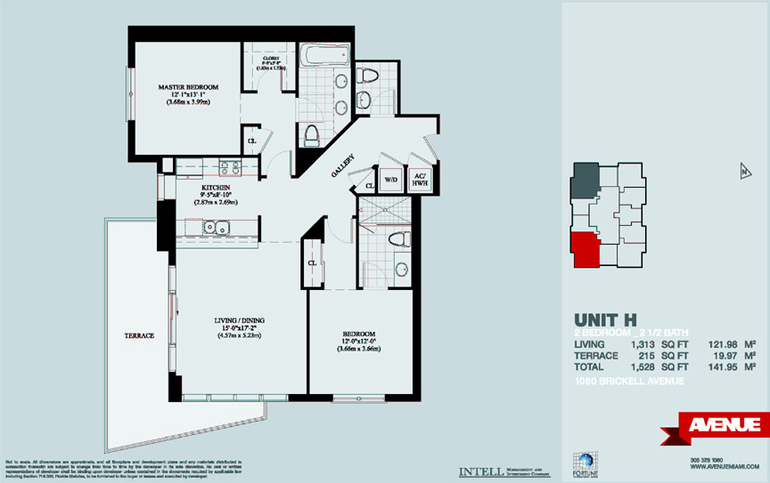 1050 avenue at brickell condo floor plans