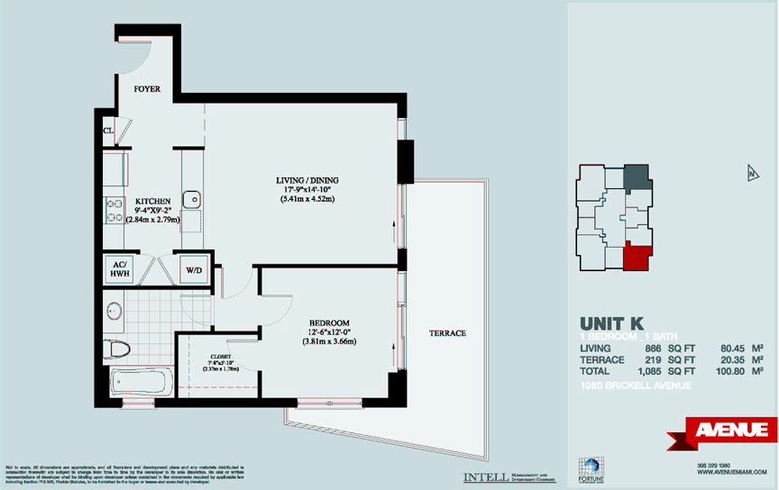 1050 brickell condo floor plans