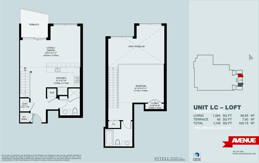 1060 Avenue at Brickell Condo Floor Plans