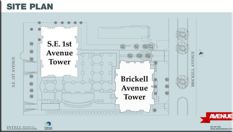 1050 - 1060 Avenue at Brickell Condo Floor Plans