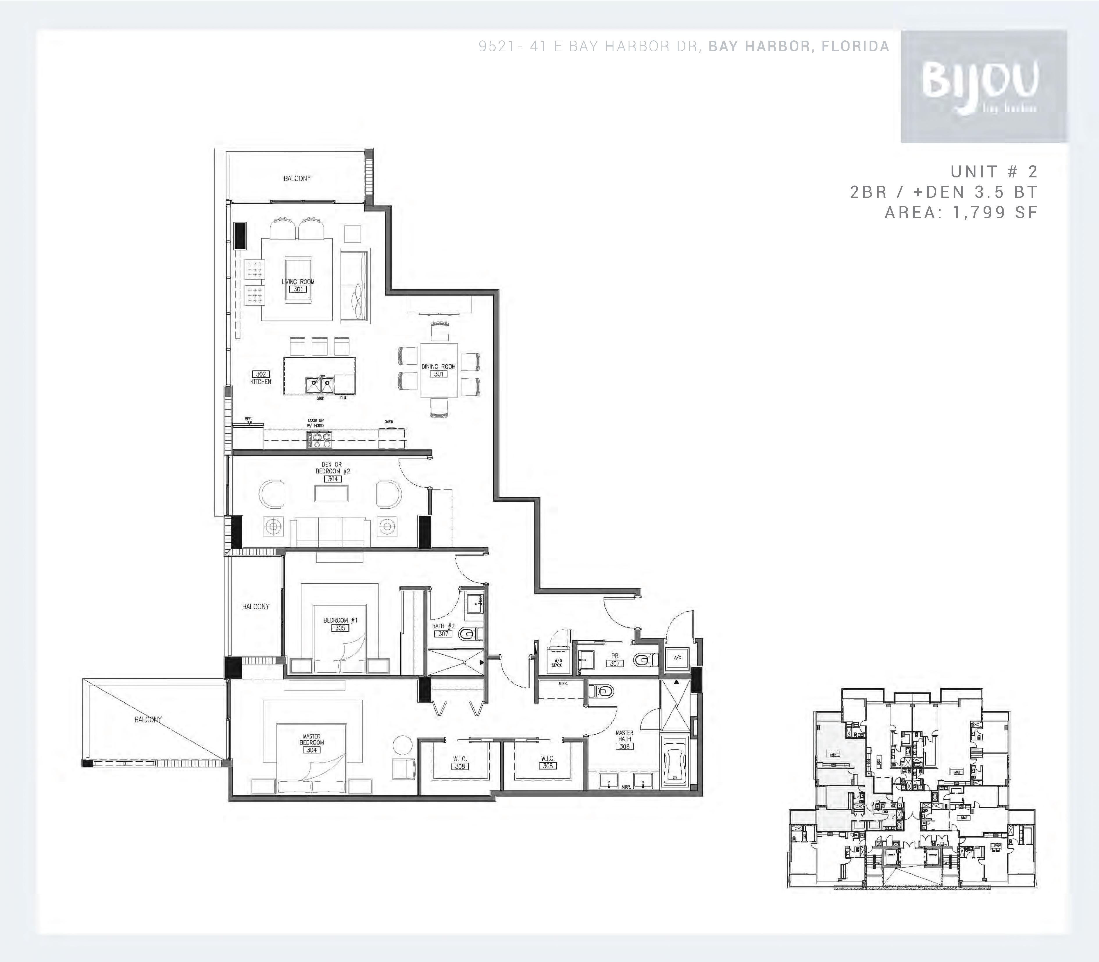 Bijou Bay Harbor Condos For Sale Rent Floor Plans