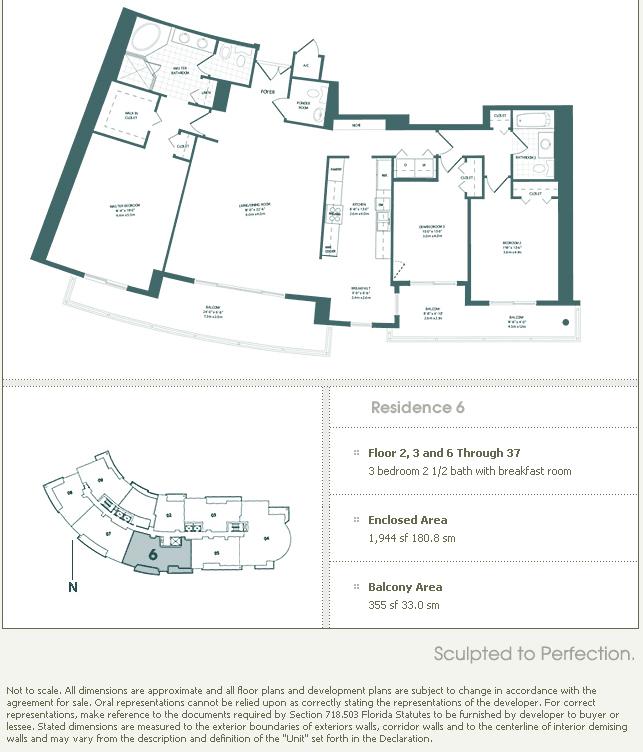 Carbonell Brickell Key Condo Floor Plans