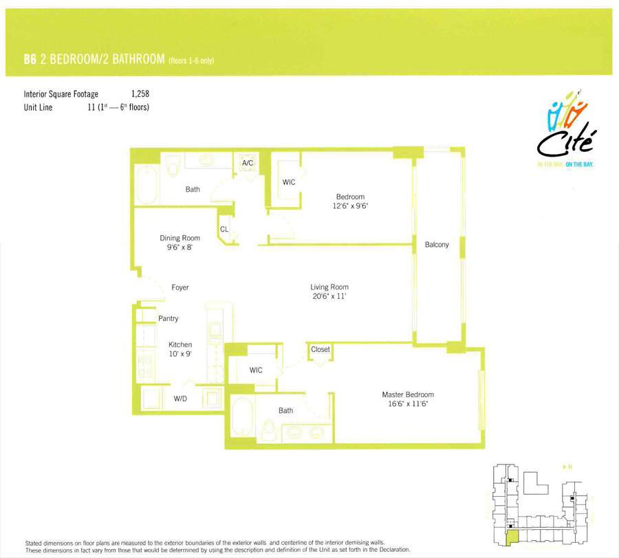 Cite Miami Condo Floor Plans