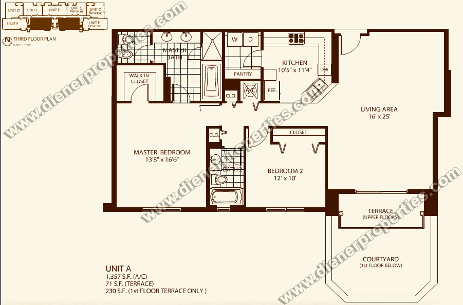 Villa zamora coral gables condo floor plans for Condo floor plan