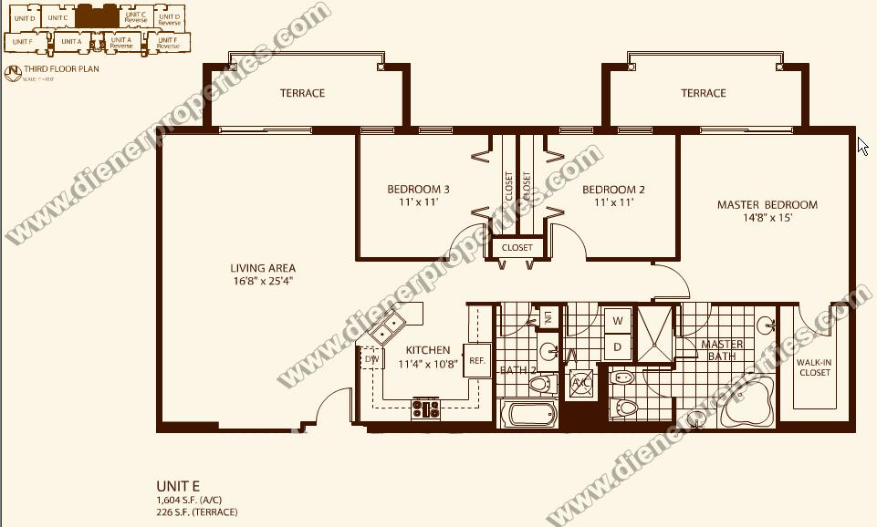 Villa zamora coral gables condo floor plans for Condo floor plans