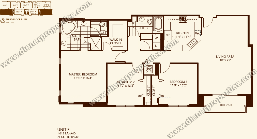 Villa Zamora Coral Gables Condo Floor Plans