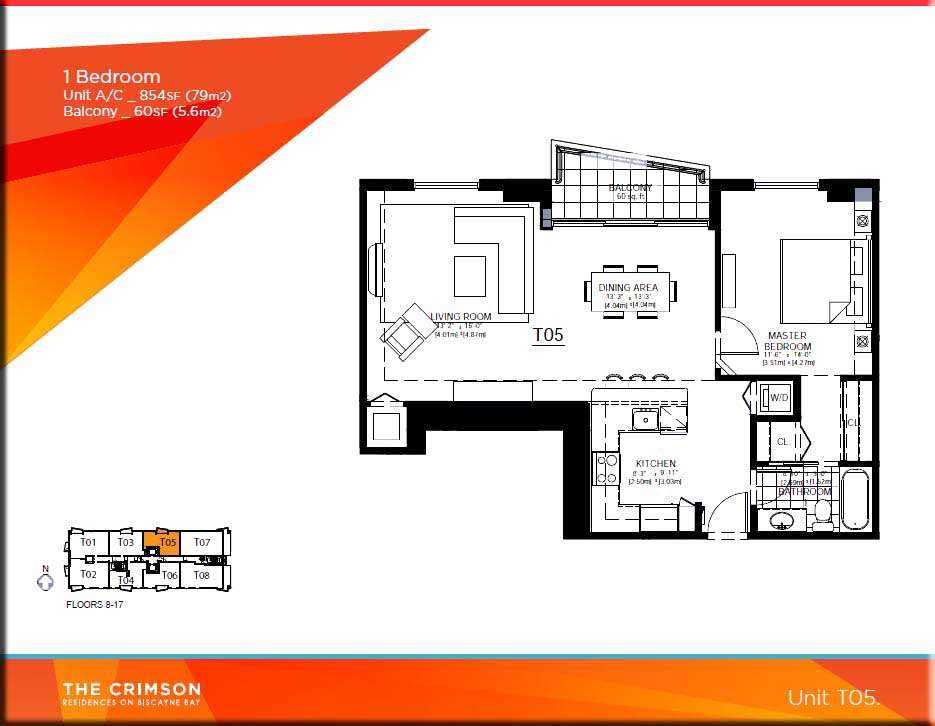 Crimson miami condo floor plans for Condominium floor plan