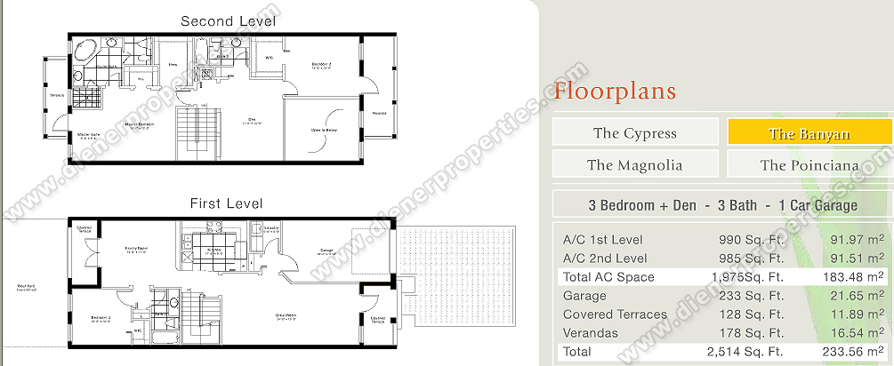 Reserve At Doral Townhome Villas For Sale Rent Floor Plans