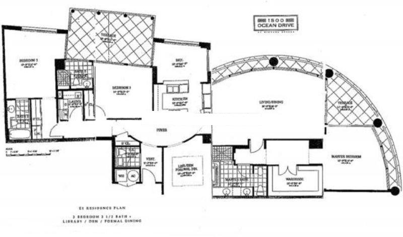 Miami condos floor plans for Miami mansion floor plans