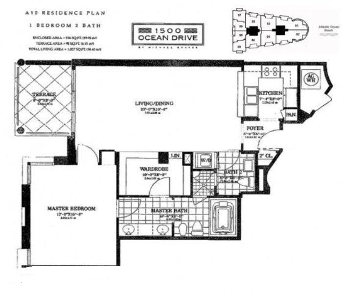 1500 ocean drive miami beach condos for sale rent floor plans for 1500 ocean drive floor plans