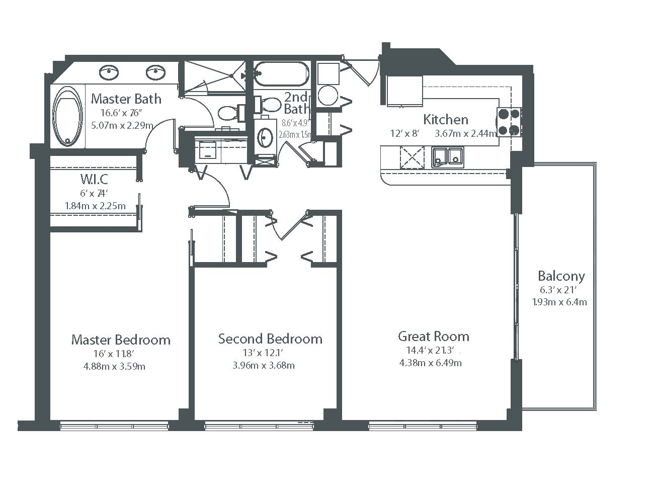 The collins condo miami beach floor plans for Condo blueprints