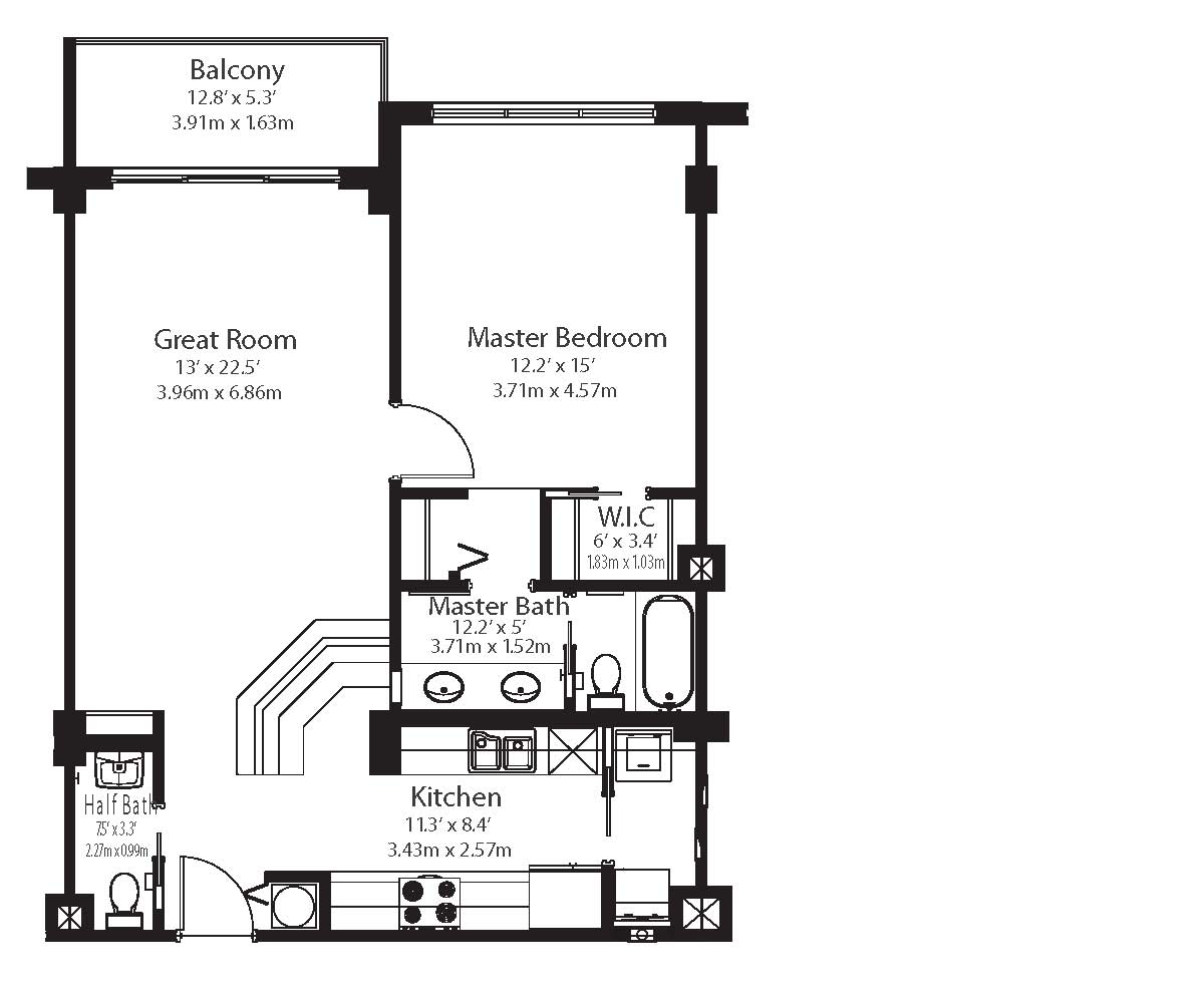 Grandview condo miami beach floor plans for Miami mansion floor plans