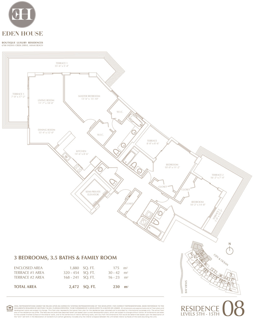Eden house miami beach condos sale rent floor plans for Miami mansion floor plans