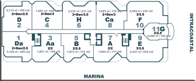 Marina Palms Yacht Club Site Plan
