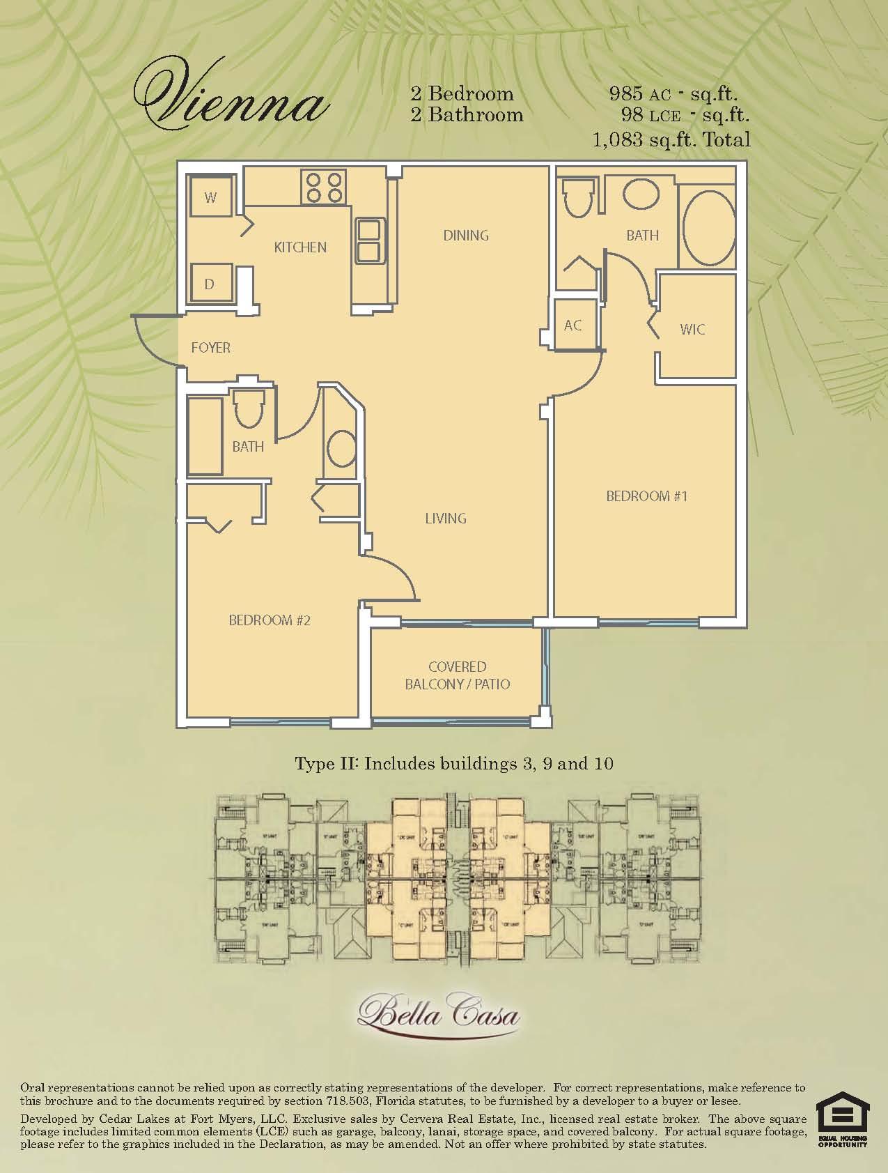 bella casa ft myers condos sale rent floor plans vienna 2 2 985 download pdf