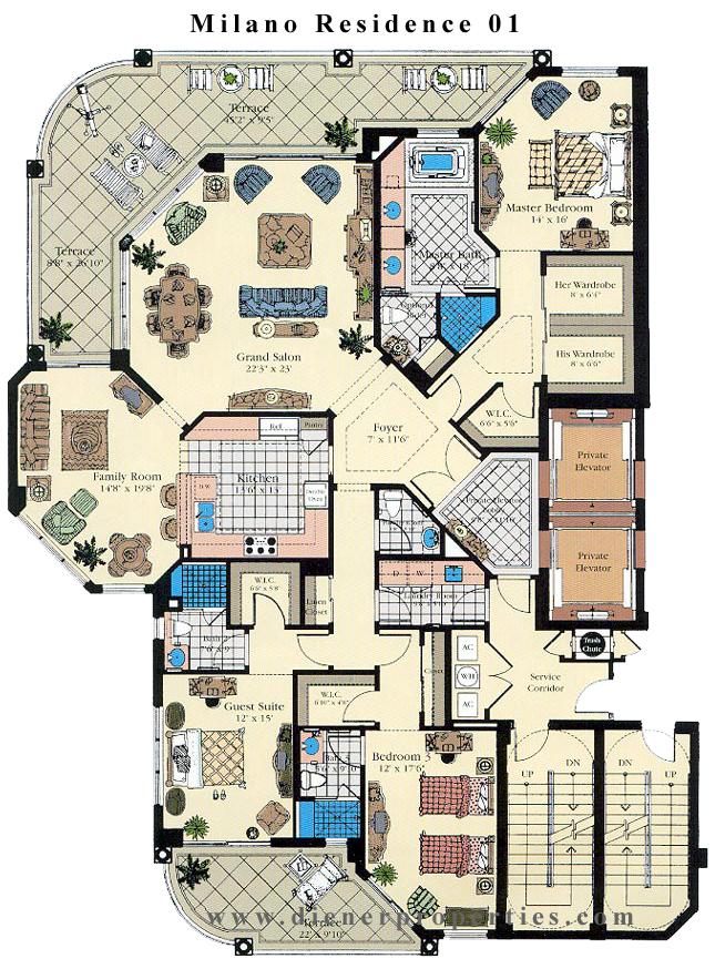 Milano deering bay condo floor plans for X2 residency floor plan
